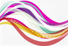Vector color wave lines with dotted effect on light background Stock Image