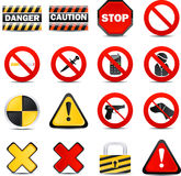 Vector Color Web Icons - Restrictions Stock Image