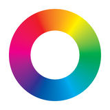 Vector Color Wheel. On white background Royalty Free Stock Photos