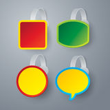 Vector color wobbler set on gray background. Royalty Free Stock Image