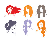 Vector color woman. Icon on white background Stock Image