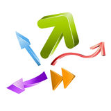 Vector colored 3D arrows Royalty Free Stock Photo