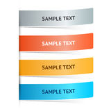 Vector colored banners Royalty Free Stock Photos