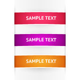 Vector colored banners Royalty Free Stock Images