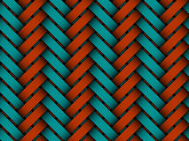 Vector colored braided fiber seamless pattern Stock Images