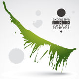 Vector colored brush painted ink blob, eps8 smudge background. W Stock Images
