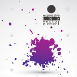 Vector colored brush painted ink blob, eps8 smudge background. W Stock Photography