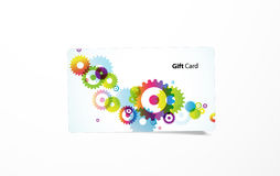 Vector colored business card. Stock Image