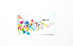 Vector colored business card Royalty Free Stock Photo