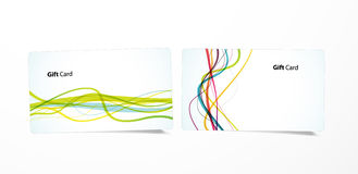 Vector colored business cards. Royalty Free Stock Image