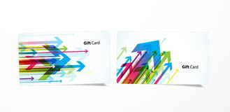 Vector colored business cards. Stock Photos