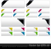 The Vector Colored  Corner Ribbon Set Stock Images
