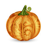 Vector Colored Decorative Pumpkin with Beautiful Pattern Stock Photos