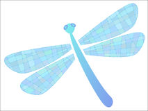 Vector colored dragonfly. Colored dragonfly in vector format Stock Photo