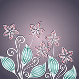 Vector Colored Floral Background Stock Photography