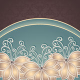 Vector Colored Floral Background Royalty Free Stock Image