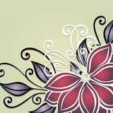 Vector Colored Floral Background Stock Images