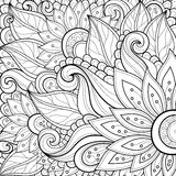 Vector Colored Floral Background royalty free illustration