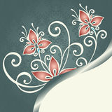 Vector Colored Floral Background Royalty Free Stock Images