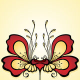 Vector Colored Floral Background Royalty Free Stock Photo