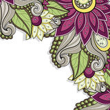 Vector Colored Floral Background Stock Image