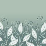 Vector Colored Floral Layout with Leaves Royalty Free Stock Images