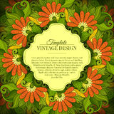Vector Colored Floral Template with Place for Text Stock Images