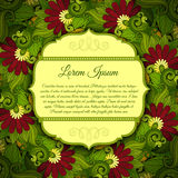 Vector Colored Floral Template with Place for Text Royalty Free Stock Images
