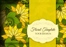 Vector Colored Floral Template with Place for Text Stock Photography