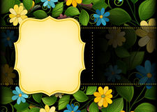 Vector Colored Floral Template with Place for Text Royalty Free Stock Photo