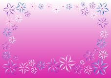 Vector flowers pink background Stock Images