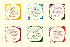 Vector colored frames set. Abstract Stock Image