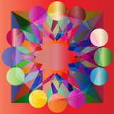 Vector colored geometrical abstract background Stock Image