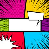 Pop art comic book colored backdrop stock illustration