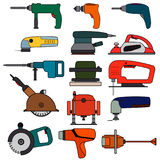 Set electric power tools. royalty free stock images