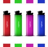 Vector colored lighters Stock Images