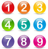 Vector colored numbers icons Stock Images