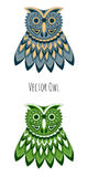 Vector colored owl Royalty Free Stock Photography
