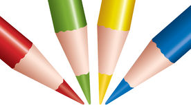 Vector colored pencils Stock Images