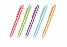 Vector colored pens Stock Images