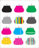 Vector colored purses Royalty Free Stock Images
