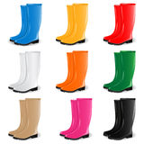 Vector colored rubber boots Royalty Free Stock Photo