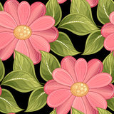 Vector Colored Seamless Floral Pattern Royalty Free Stock Photography