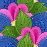 Vector Colored Seamless Floral Pattern Stock Photos