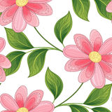 Vector Colored Seamless Floral Pattern Royalty Free Stock Images