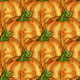 Vector Colored Seamless Pattern with Decorative Pumpkin. Eating Plant. Thanksgiving Holiday Symbol. Halloween Decorations vector illustration