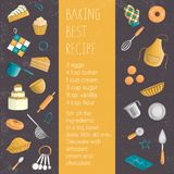 Vector colored set of elements for baking stock illustration
