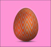 Vector single realistic animal easter colored egg royalty free stock photo
