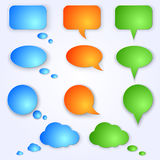 Vector colored speech bubbles Royalty Free Stock Images