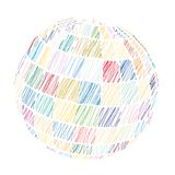 Vector Colored Sphere Royalty Free Stock Image